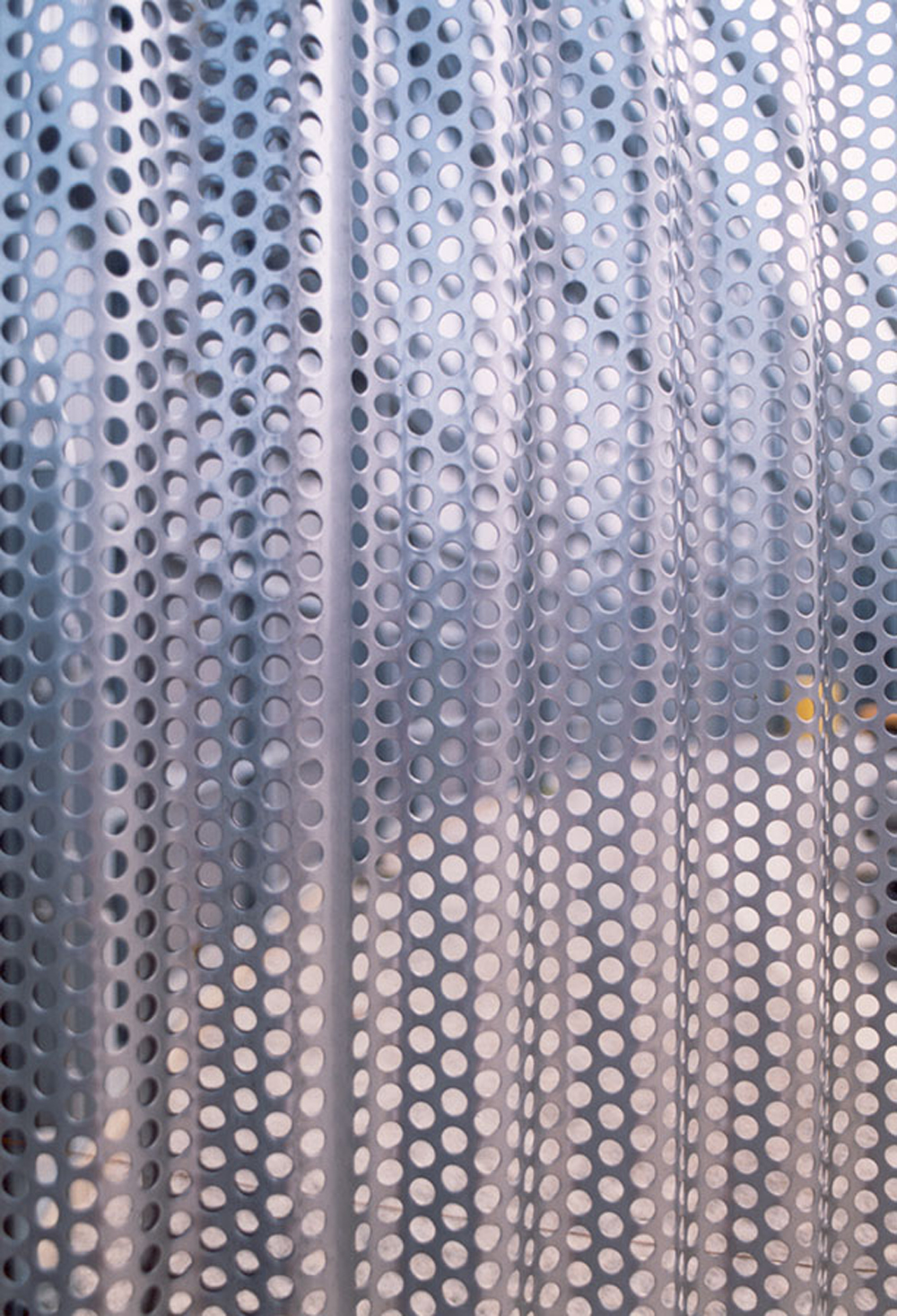 University of Pennsylvania Gateway Complex, corrugated perforated stainless steel panel